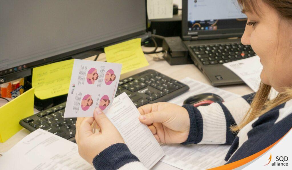 Samobadanie piersi - materiały edukacyjne SQDA